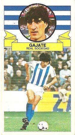 Liga 85-86. Gajate (Real Sociedad). Ediciones Este.