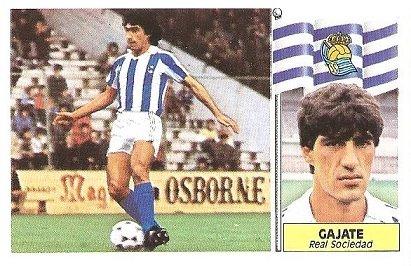 Liga 86-87. Gajate (Real Sociedad). Ediciones Este.