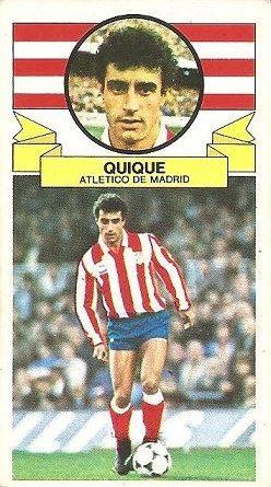 Liga 85-86. Quique (Atlético de Madrid). Ediciones Este.
