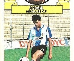 Liga 85-86. Ángel (Coloca por Rocamora) (Hércules C.F.). Ediciones Este.