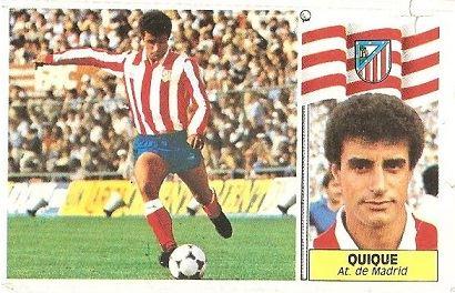 Liga 86-87. Quique (Atlético de Madrid). Ediciones Este.