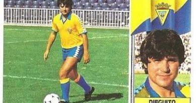 Liga 86-87. Dieguito (Cádiz C.F.). Ediciones Este.