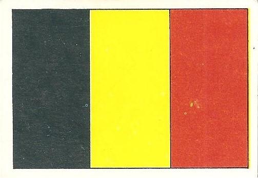 Eurocopa 1984. Bandera Bélgica (Bélgica) Editorial Fans Colección.