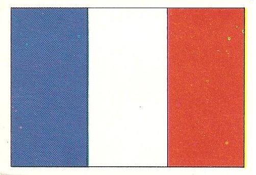 Eurocopa 1984. Bandera Francia (Francia). Editorial Fans Colección.