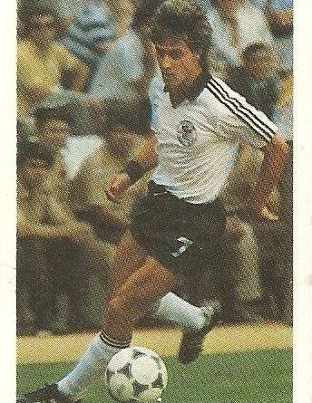 Eurocopa 1984. Littbarski (Alemania Federal). Editorial Fans Colección.