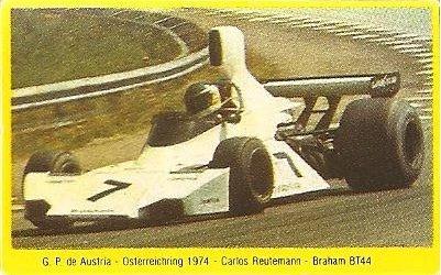 Grand Prix Ford 1982. Carlos Reutemann (Brabham). (Editorial Danone).