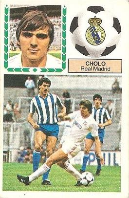 Liga 83-84. Cholo (Real Madrid). Ediciones Este.