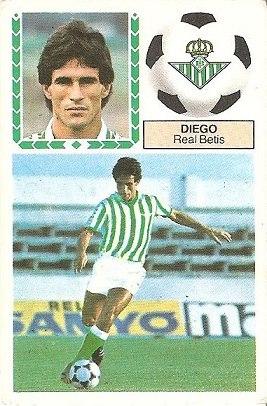 Liga 83-84. Diego (Real Betis). Ediciones Este.