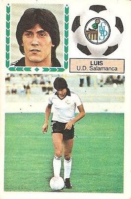 Liga 83-84. Luis (U.D. Salamanca). Ediciones Este.