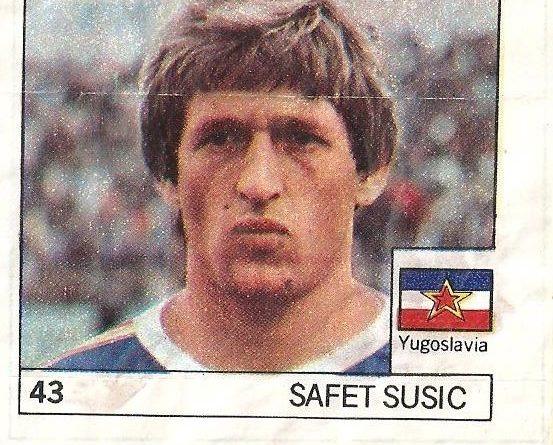 Super Cromos Los Mejores del Mundo (1981). Susic (Yugoslavia). Chicle Fútbol Boomer.