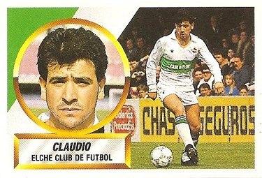 Liga 88-89. Claudio (Elche C.F.). Ediciones Este.