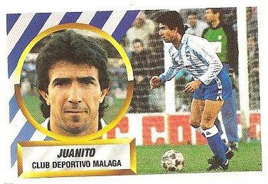 Liga 88-89. Juanito (C.D. Málaga). Ediciones Este.