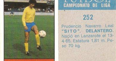 Fútbol 85-86. Campeonato de Liga. Sito (U.D. Las Palmas). Editorial Lisel.
