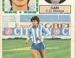 Liga 83-84. Fichaje Nº 26 Gabi (C.D. Málaga). Ediciones Este.