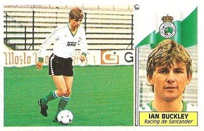 Liga 86-87. Fichaje Nº 20 Buckley (Racing de Santander). Ediciones Este.