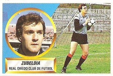 Liga 88-89. Zubeldia (Real Oviedo). Ediciones Este.