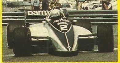 Grand Prix Ford 1982. Riccardo Patresse (Brabham). (Editorial Danone).