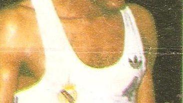Liga Baloncesto 1985-1986. Robinson (Real Madrid). Chicle Gumtar.