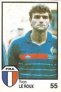 México 86. Le Roux (Francia) Cromos Barna.