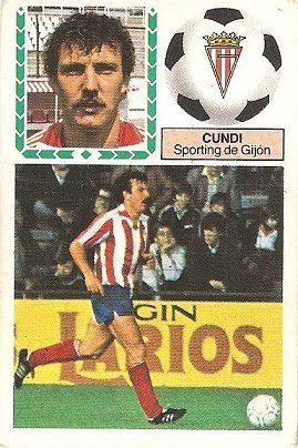Liga 83-84. Cundi (Sporting de Gijón). Ediciones Este.