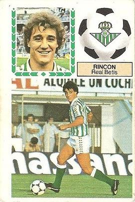 Liga 83-84. Rincón (Real Betis). Ediciones Este.