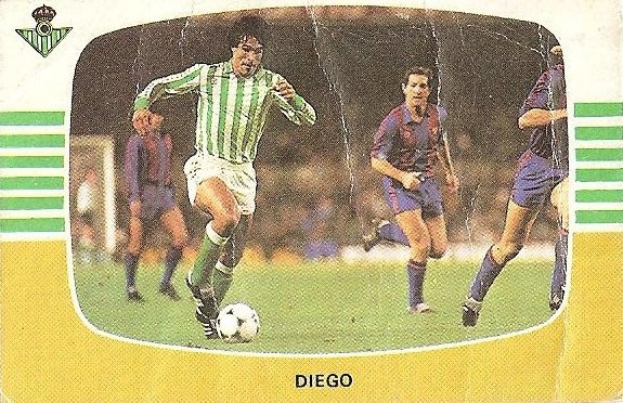 Liga 84-85. Diego (Real Betis). Cromos Cano.