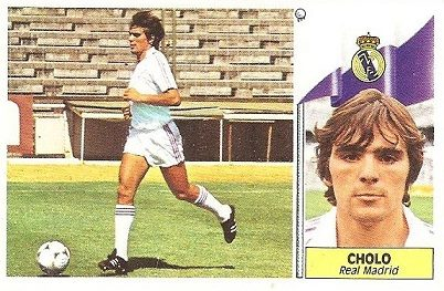 Liga 86-87. Cholo (Real Madrid). Ediciones Este.