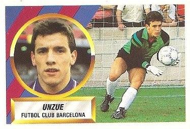 Liga 88-89. Unzue (F.C. Barcelona). Ediciones Este.