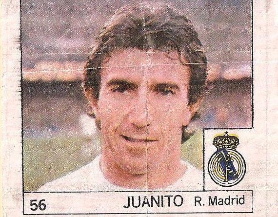 Super Cromos Los Mejores del Mundo (1981). Juanito (Real Madrid). Chicle Fútbol Boomer.