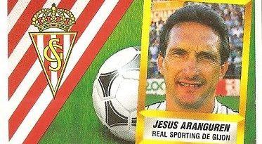 Liga 88-89. Aranguren (Real Sporting de Gijón). Ediciones Este.