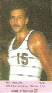 Liga Baloncesto 1985-1986. Mike Phillips (R.C.D. Español Juver). Chicle Gumtar.