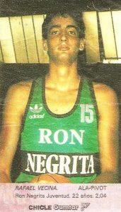 Liga Baloncesto 1985-1986. Vecina (Ron Negrita Juventud). Chicle Gumtar.