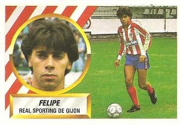 Liga 88-89. Felipe (Real Sporting de Gijón). Ediciones Este.