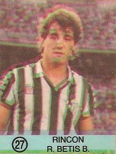 1983-84 Super Campeones. Rincón (Real Betis). Ediciones Gol.