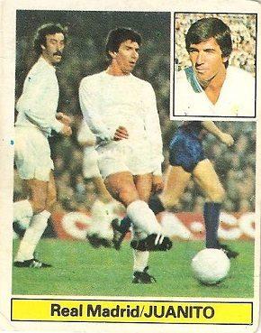 Liga 81-82. Juanito (Real Madrid). Ediciones Este.