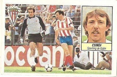 Liga 84-85. Cundi (Sporting de Gijón). Ediciones Este.