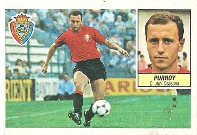 Liga 84-85. Purroy (Club Atlético Osasuna). Ediciones Este.