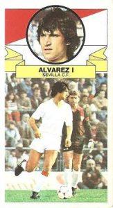 Liga 85-86. Álvarez I (Sevilla C.F.). Ediciones Este.