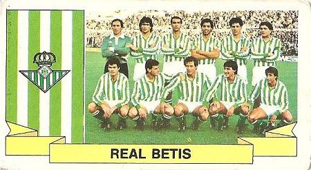 Liga 85-86. Alineación Real Betis (Real Betis). Ediciones Este.