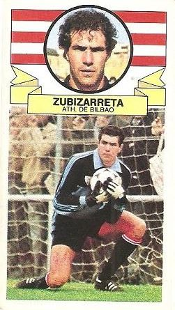 Liga 85-86. Zubizarreta (Ath. Bilbao). Ediciones Este.