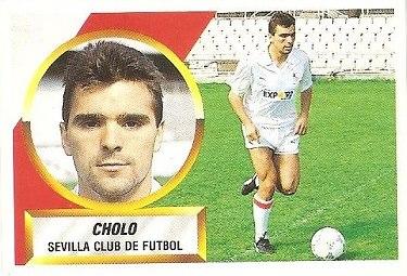 Liga 88-89. Cholo (Sevilla C.F.). Ediciones Este.