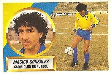 Liga 88-89. Mágico González (Cádiz C.F.). Ediciones Este.