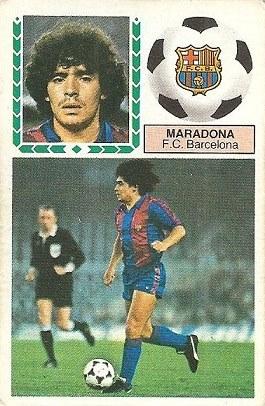 Liga 83-84. Maradona (F.C. Barcelona). Ediciones Este.
