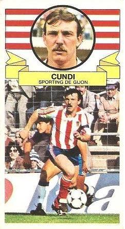 Liga 85-86. Cundi (Real Sporting de Gijón). Ediciones Este.