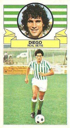 Liga 85-86. Diego (Real Betis). Ediciones Este.