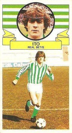 Liga 85-86. Ito (Coloca por Palomino) (Real Betis). Ediciones Este.