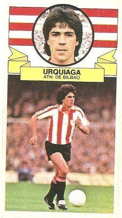 Liga 85-86. Urquiaga (Ath. Bilbao). Ediciones Este.