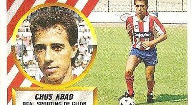 Liga 88-89. Chus Abad (Coloca por Cabrera) (Real Sporting de Gijón). Ediciones Este.