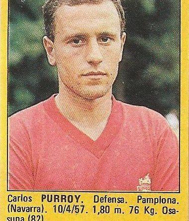 Super Fútbol 85. Purroy (Club Atlético Osasuna). Super Cromos Rollán.
