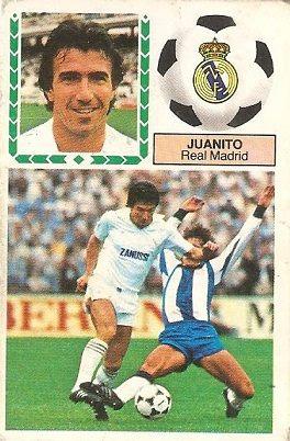 Liga 83-84. Juanito (Real Madrid). Ediciones Este.